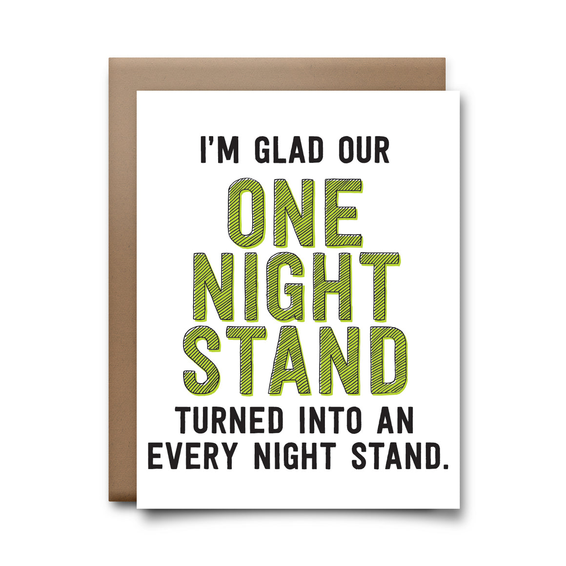 one night stand | greeting card