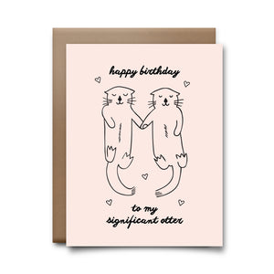 significant otter | greeting card