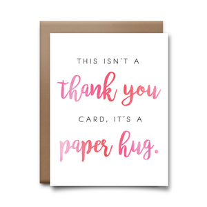 paper hug | greeting card