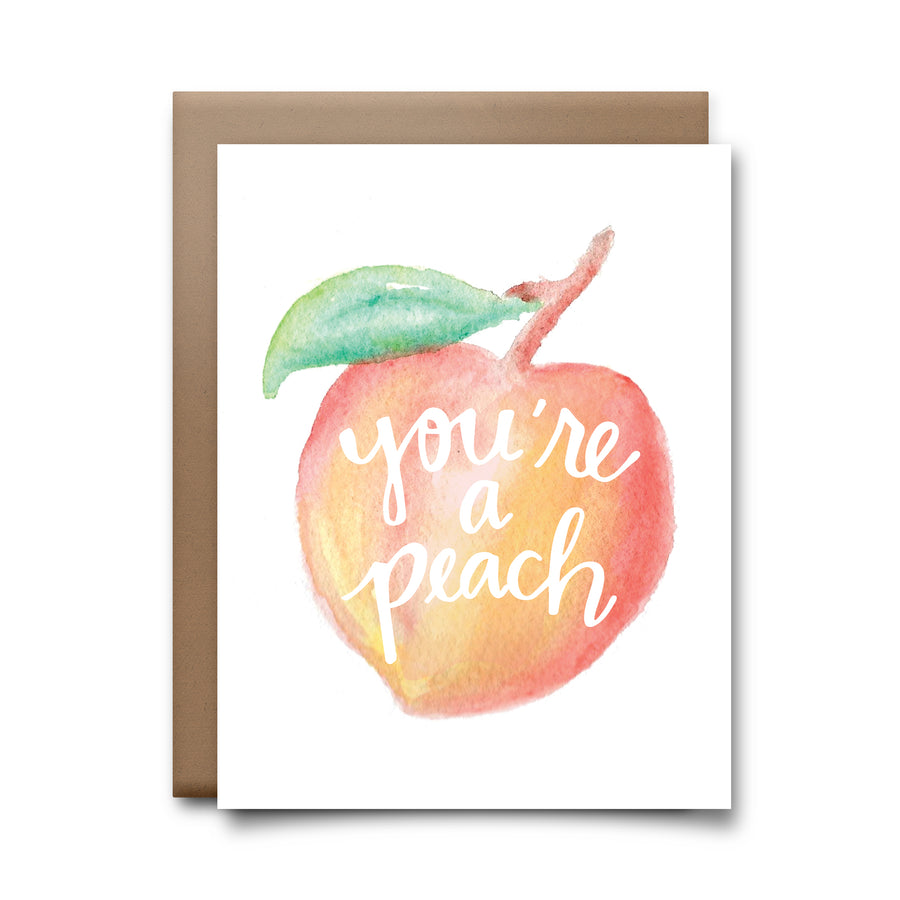 you're a peach | greeting card