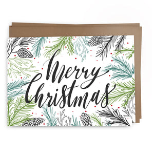xmas pine pack | greeting card