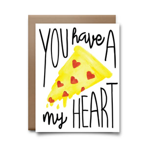 pizza my heart | greeting card