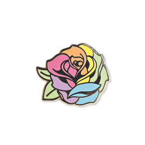 pride rose | enamel pin