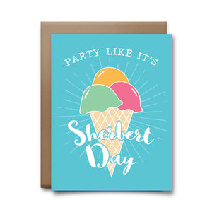 sherbert day | greeting card