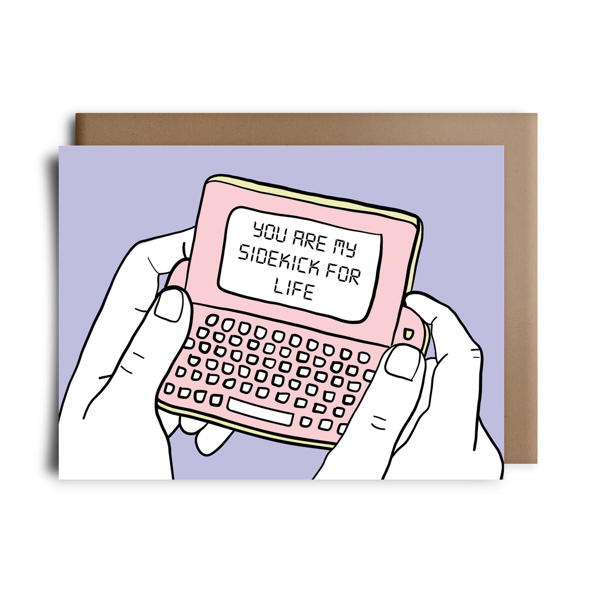 side kick phone | greeting card