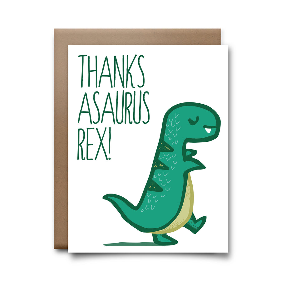 thanksasaurus rex | greeting card