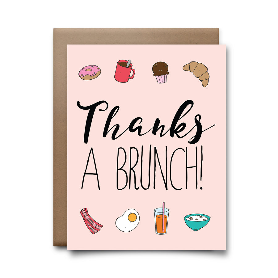 thanks a brunch | greeting card