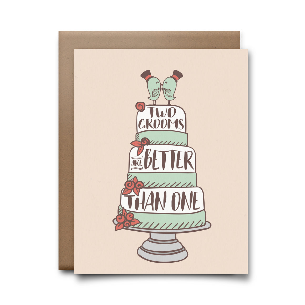 two grooms | greeting card