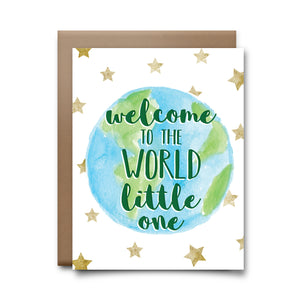 welcome to world | greeting card