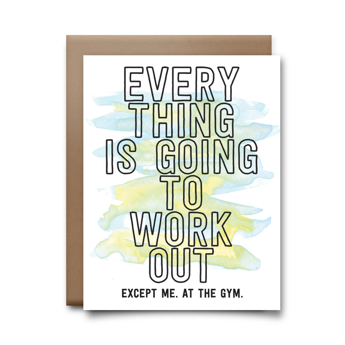 work out | greeting card