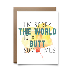 the world butt | greeting card