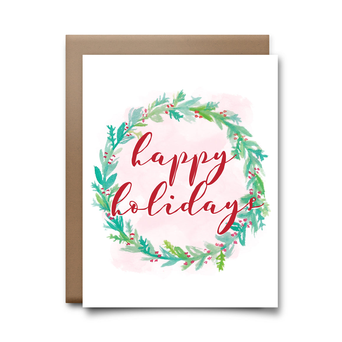 holidays wreath | greeting card
