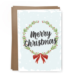xmas wreath pack | greeting card