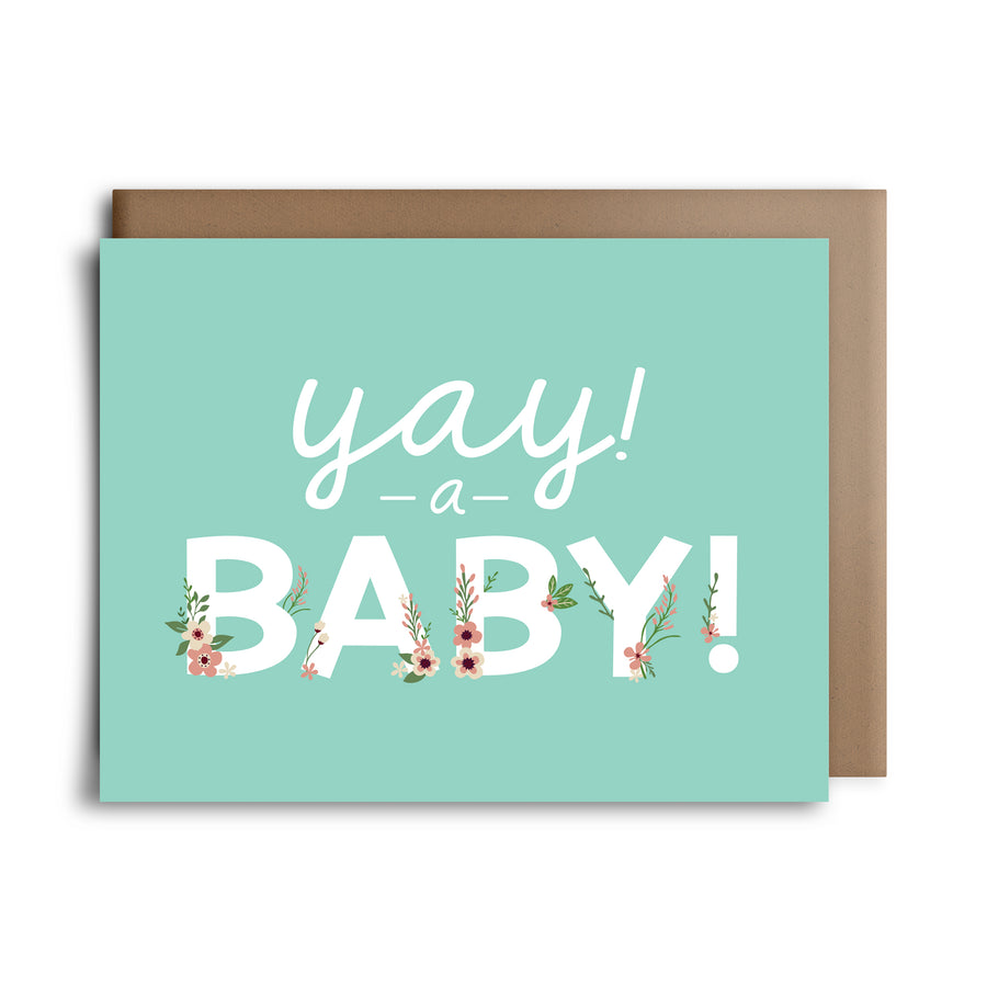yay a baby | greeting card