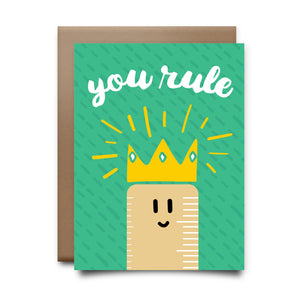 you rule | greeting card