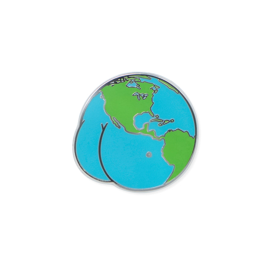world butt | enamel pin