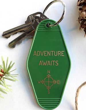 adventure awaits | key tag
