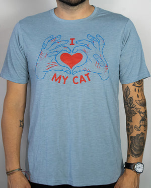 heart my cat | stonewash blue | uni