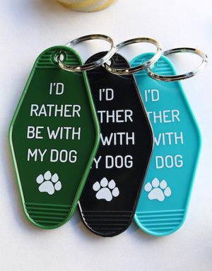rather dog | key tag