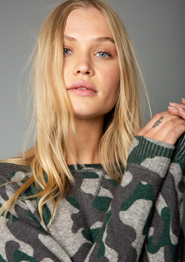 It's Camouflage Fever! Blue & Green Camo Autumn Cashmere