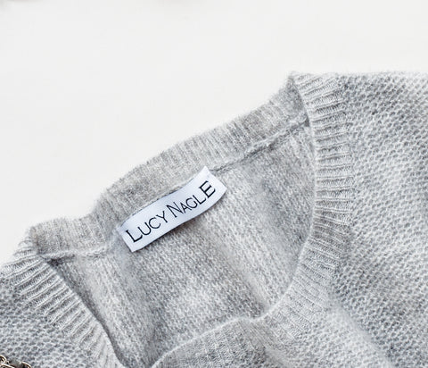 lucy nagle grey waffle cashmere