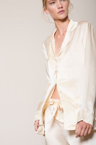 Lucy Nagle silk pjs