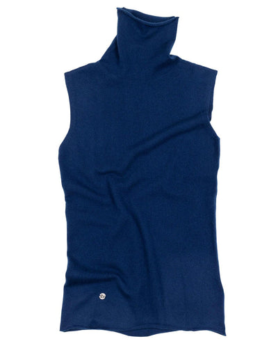 The Sleeveless Polo in Midnight
