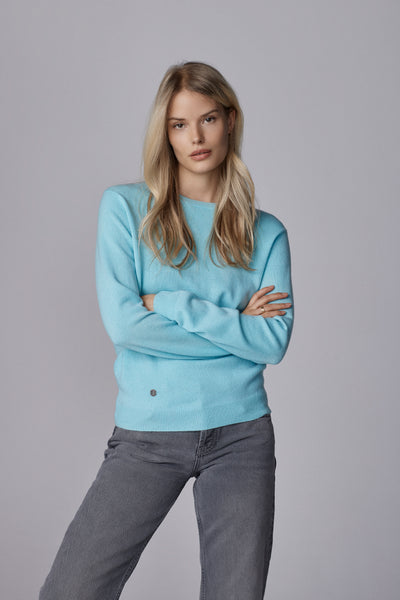 The Everyday Sweater in Aqua