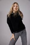 The Slouchy Rib Turtleneck in Black