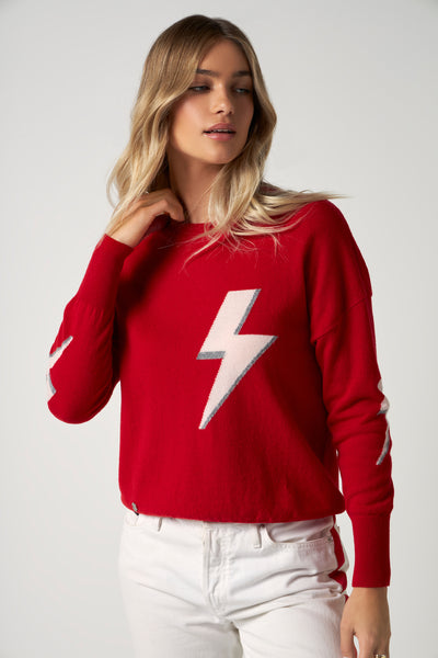 The Bolt Sweater in Red