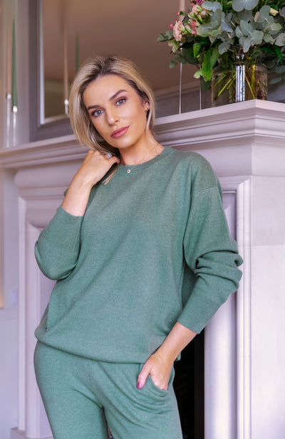 The Oversized Roundneck in Sage