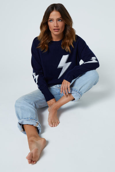 The Bolt Sweater in Navy