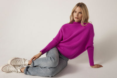 The Slouchy Rib Turtleneck in Bromo