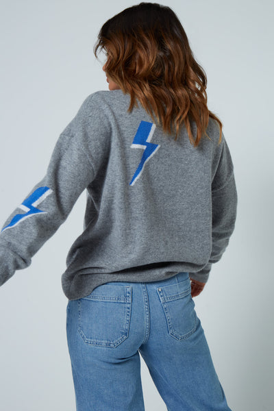The Bolt Sweater in Grey