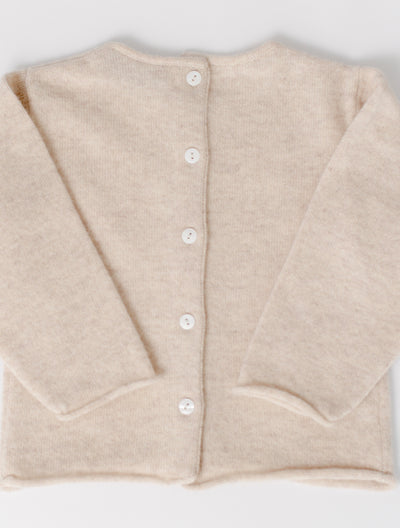 Button Back Cardigan in Oatmeal
