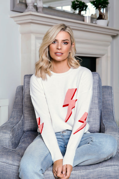 The Bolt Sweater in White