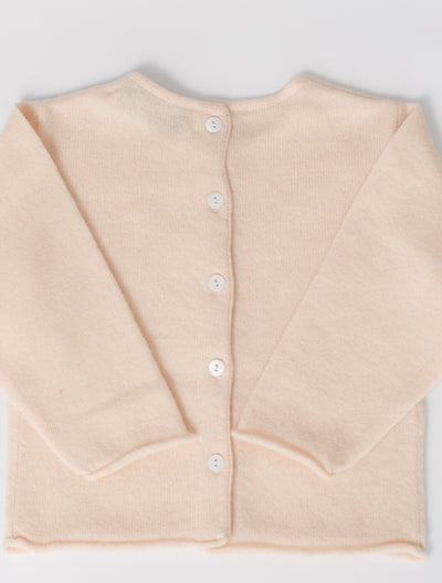 Button Back Cardigan in Pearl