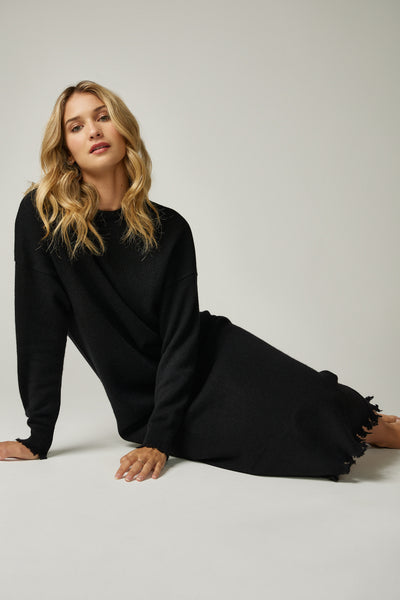 The Frayed Edge Maxi in Black