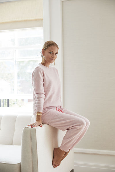 The Frayed Cuff Lounge Pants in Rosebud