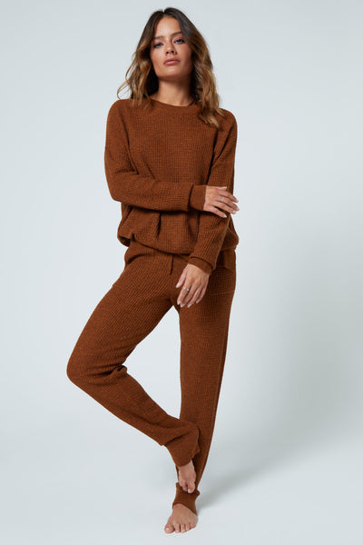 The Joggers in Brown Waffle