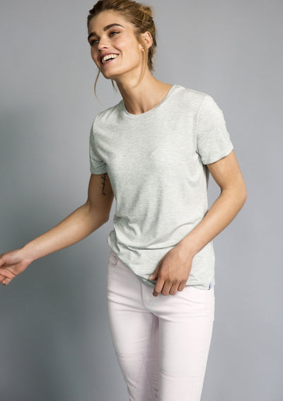 lucy nagle marl grey t-shirt