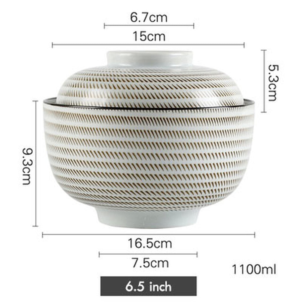 Large Japanese Bowl with Lid / 40 per case