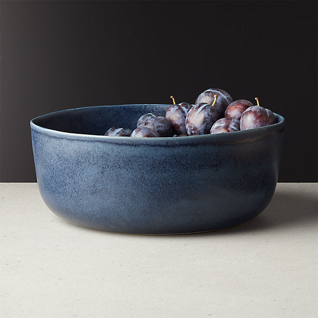 Drift Reactive Indigo Serving Bowl