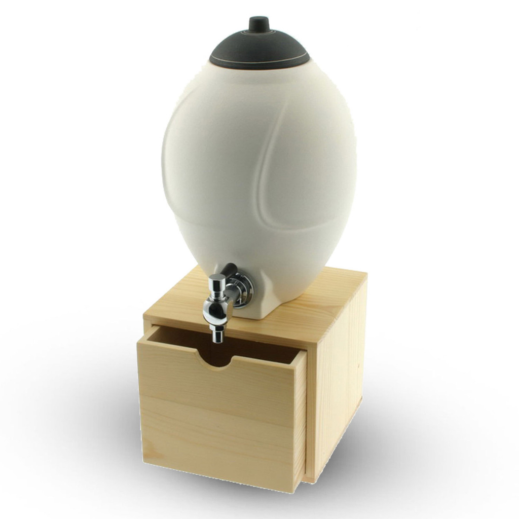 White Round Sake Dispenser 48 oz