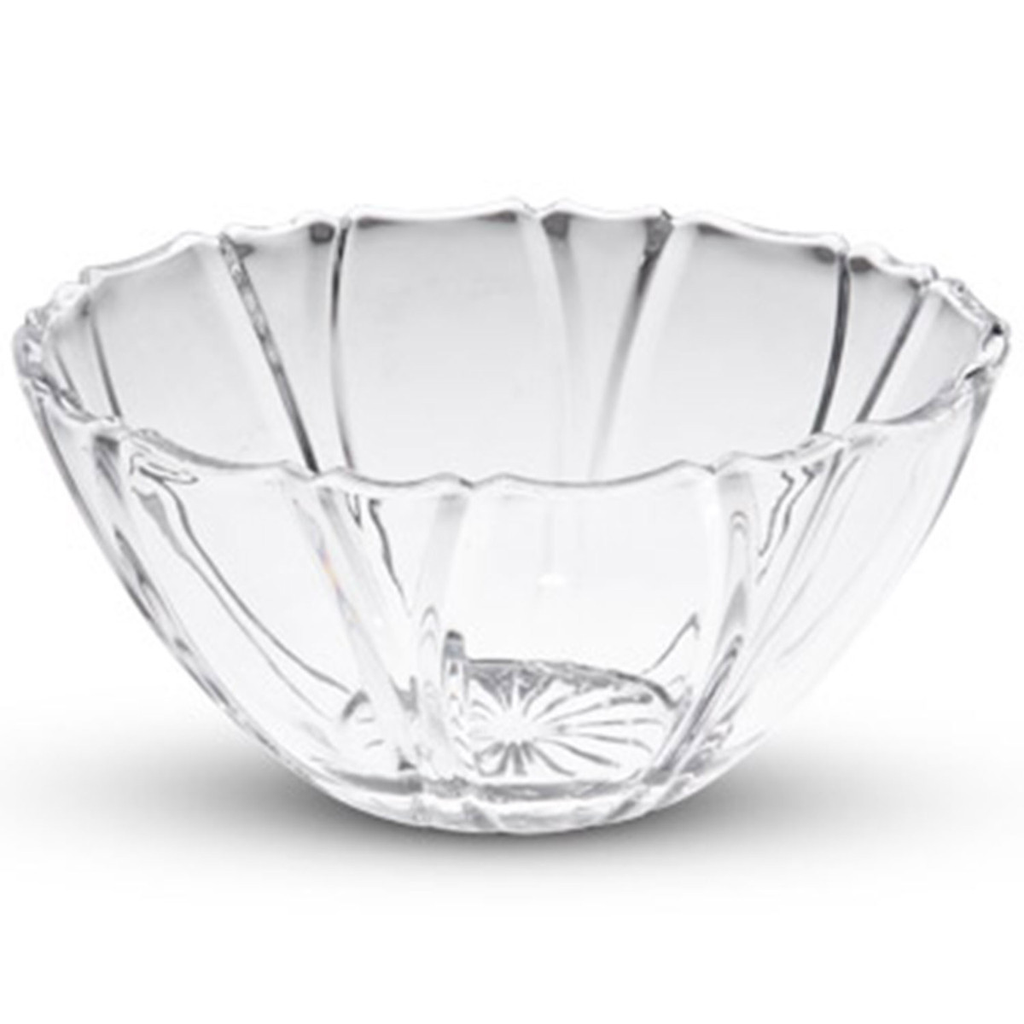 Small Crystal Clear Round Striped Bowl (available in 2 sizes)