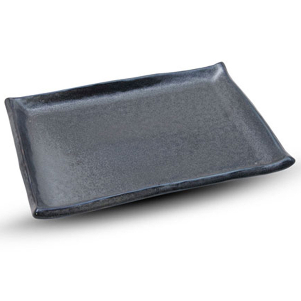 Tessa Black Rectangular Plate