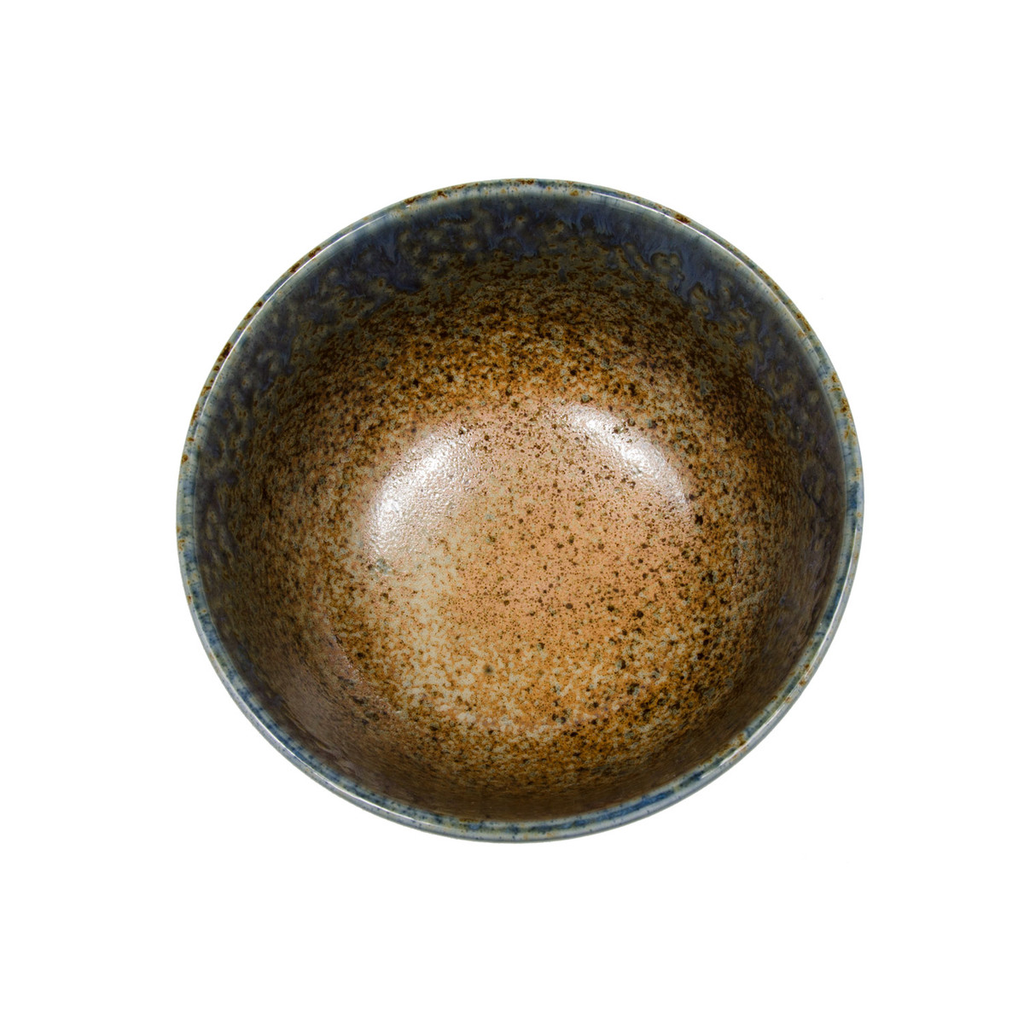 Ainagashi Blue Brown Round Bowl 38 oz