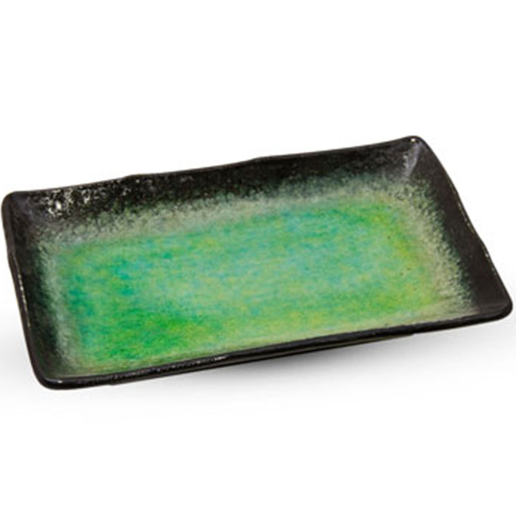Ariake Green Rectangular Plate