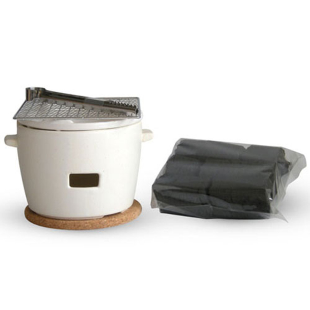 Charcoal Konro Grill Set (available in 2 colors Black or White)