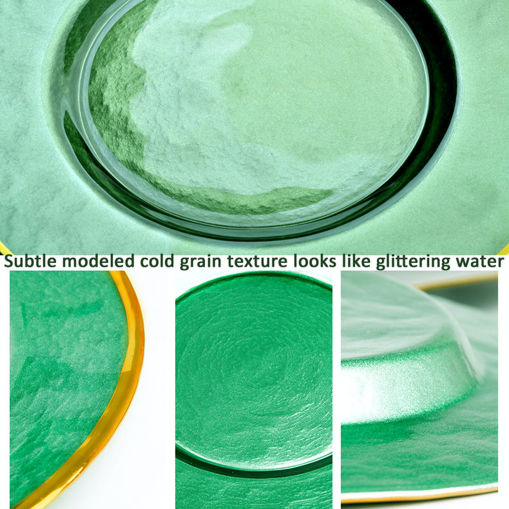 Green Glass Charger Plate / 12 plates per case